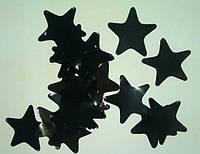 Конфетти звездочки, черные, 50 грамм