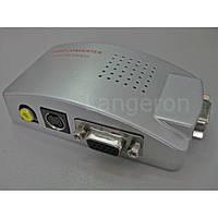 Преобразователь цифрового сигнала в аналоговый VGA в AV RCA S-video видео тюльпан конвертер
