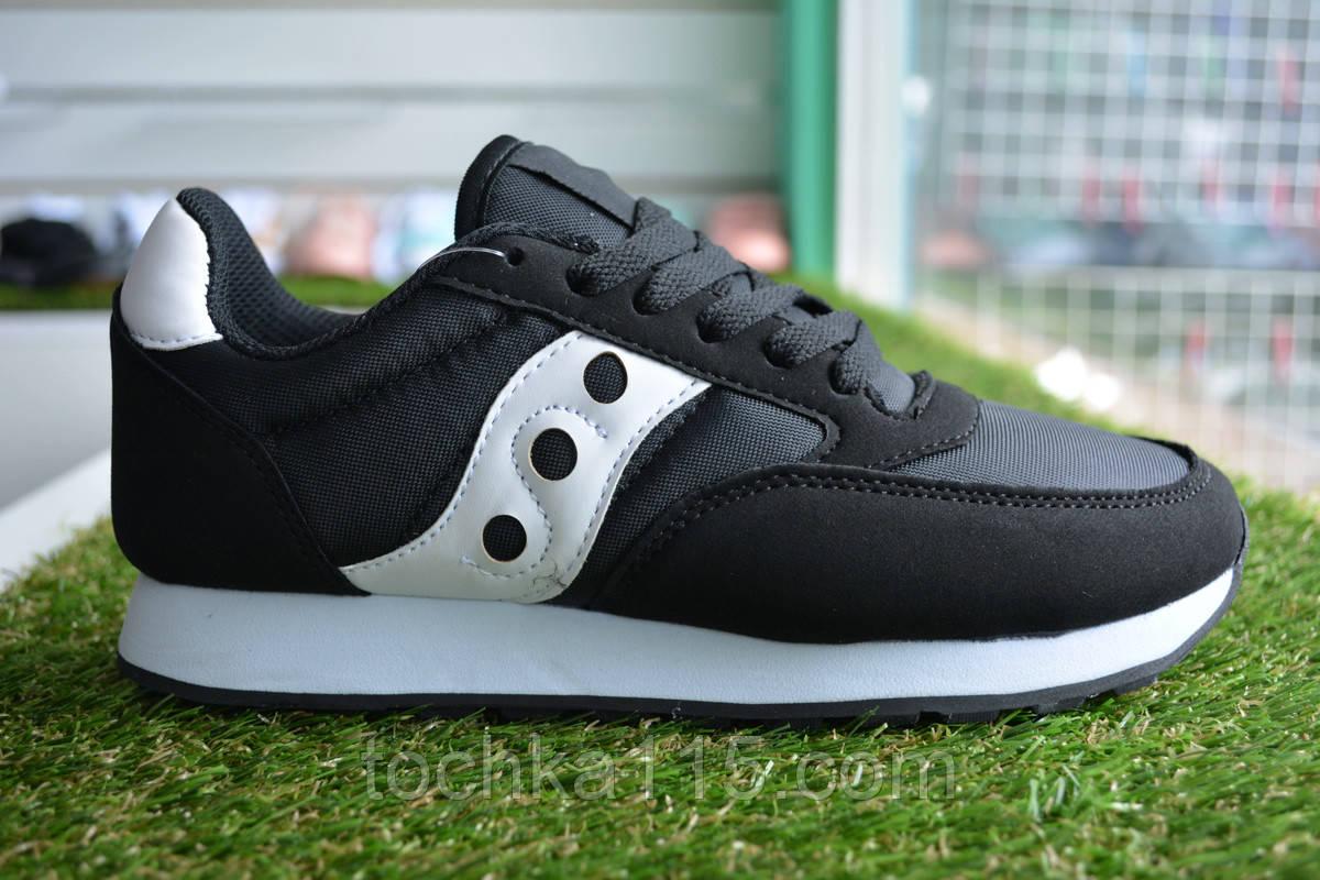 Женские кроссовки Saucony черные, копия