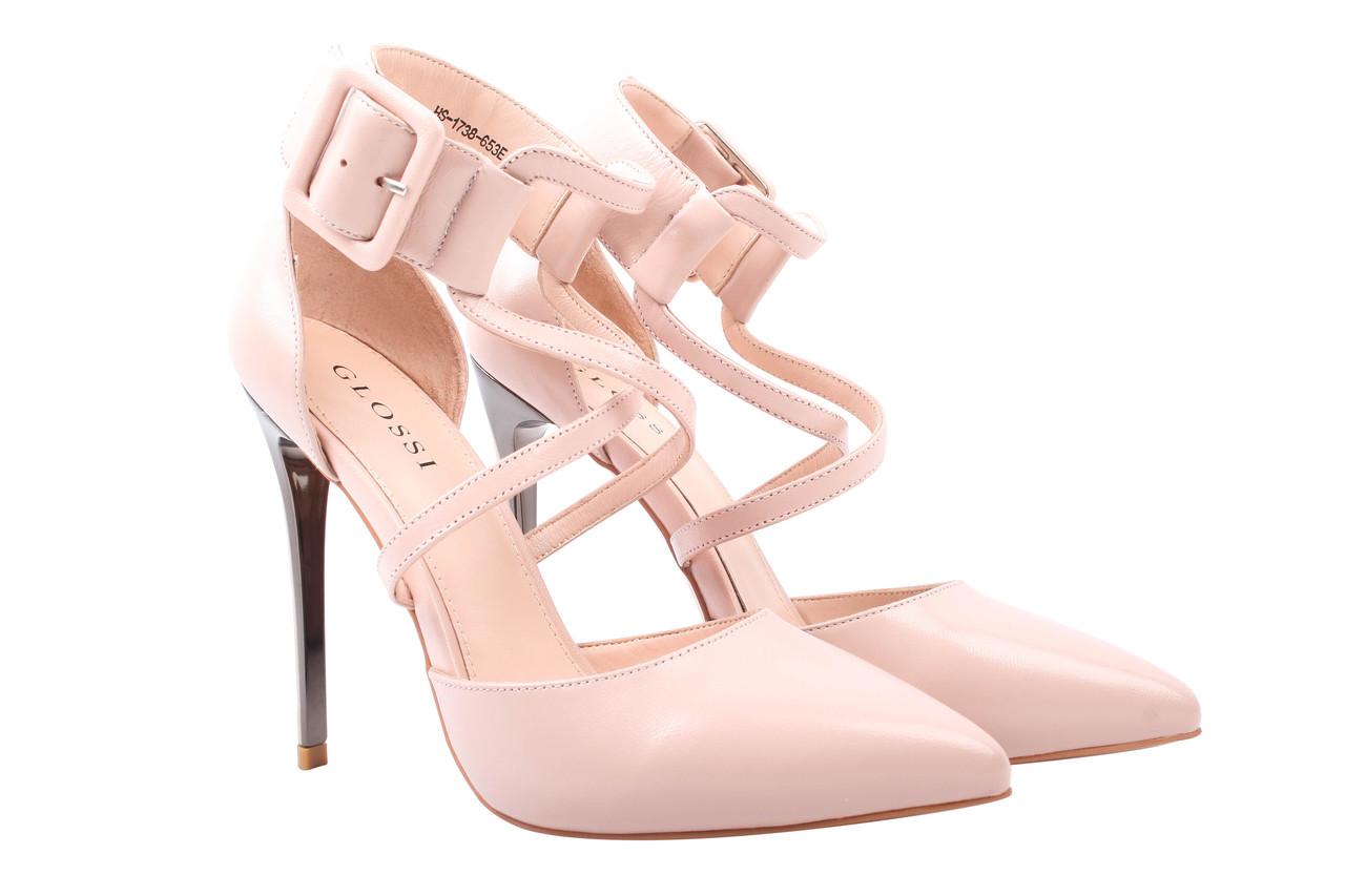 Туфли женские Glossi натуральная кожа, цвет пудра (каблук шпилька, стильные)