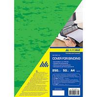 Обкладинка картонні  глянець  А4 250г/м2, зелені