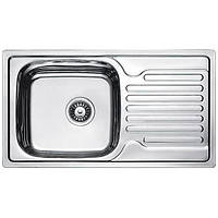 Кухонная мойка из нержавеющей стали Fabiano 78x43 Decor
