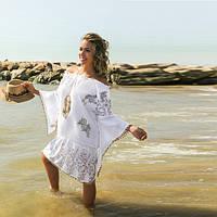 Пляжная туника с вышивкой  ,  из хлопка  247 А
