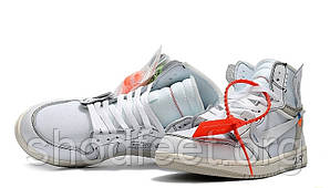 Подростковые кроссовки Off-White x Air Jordan 1 White AQ0818-100 2018