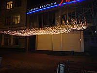 НОВОГОДНЕЕ ОФОРМЛЕНИЕ фасадов. Гирлянда нить. Праздничная подсветка, фото 1