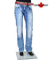 Джинсы мужские с кожаным ремнем  DSQUARED-753-701