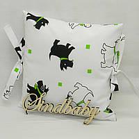 Бортики подушки в кроватку, Подушка бязь 30х30 -03