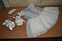 Нарядное платье на девочку 6-9 месяцев