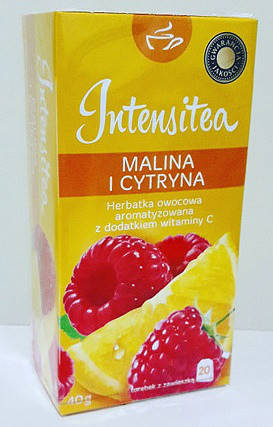 Чай фруктовый Intensitea малина и лимон 20 пакетиков Польша, фото 2