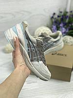 Женские кроссовки Asics Gel Lyte 3 (бежевые с коричневым), Реплика, фото 1