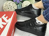Женские Кроссовки Nike Air Force - черные, фото 1