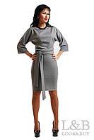 Трикотажное платье Dolce серый до р.52
