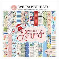 Набір паперу - Practically Perfect - Carta Bella - 15х15 Ціна за пів набору!!!
