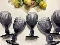 """Бокалы из цветного стекла """" Кубок"""" аметист. Цветные бокалы, винтажные бокалы для вина"""