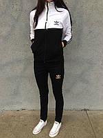 Женский спортивный костюм Adidas черного и белого цвета