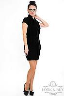 """Черное платье """"Фортуна"""" в деловом стиле"""