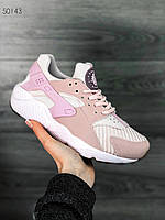 Женские кроссовки Nike Air Huarache(розовый), Реплика, фото 1