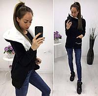 Женское стильное худи-косуха на байке в больших размерах 774-1