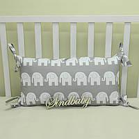 Бортики подушки в кроватку, Подушка 30х60 -14