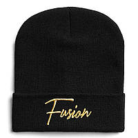 Fusion Шапка FUSION GOLD ON BLACK BEANIE