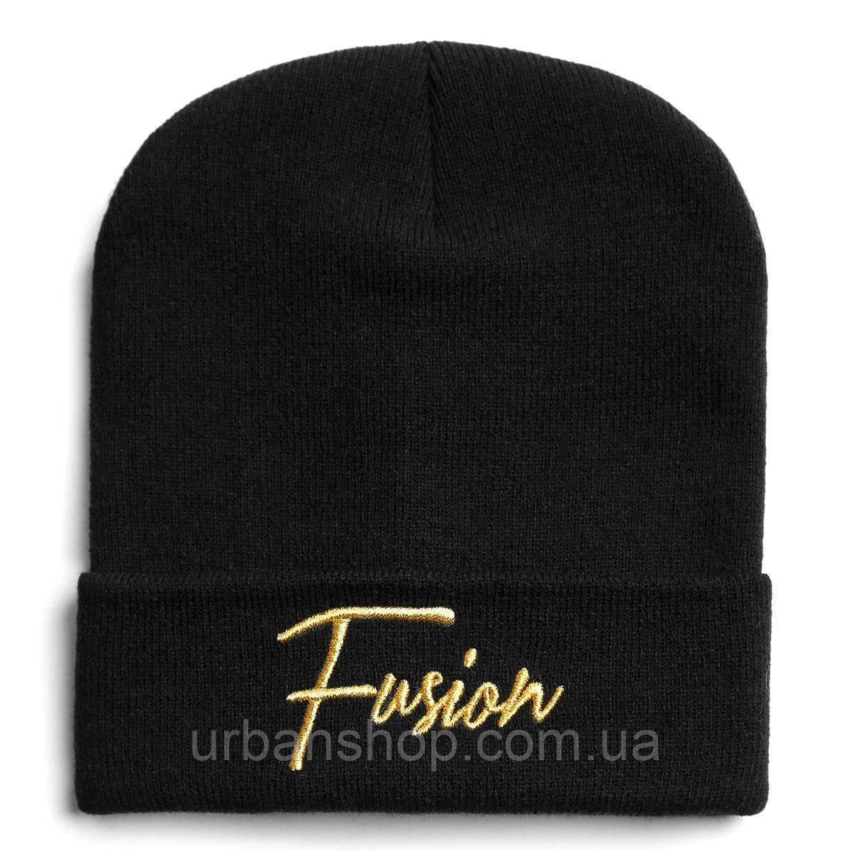 Fusion Шапка FUSION GOLD ON BLACK BEANIE, фото 1