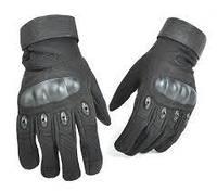 Тактические перчатки Oakley полнопалые (Черные)
