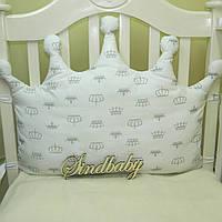Бортики подушки в кроватку, Подушка Корона - 01