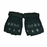 Тактические перчатки Oakley беспалые (черные)