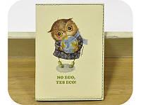 Обложка на паспорт No Ego, Yes Eco + блокнотик