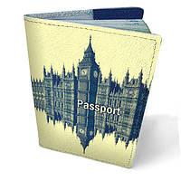 Обложка на паспорт кожа Лондон