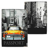 Обложка на паспорт Нью-Йорк ткань
