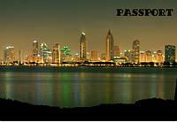 Обложка на паспорт Ночной город