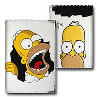Обложка на паспорт Гомер ткань