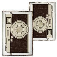 Обложка на паспорт Фотоаппарат ткань
