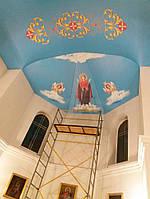 Натяжной потолок из пвх в храме с монтажом