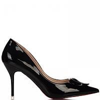 Женские лаковые туфли черного цвета 115524