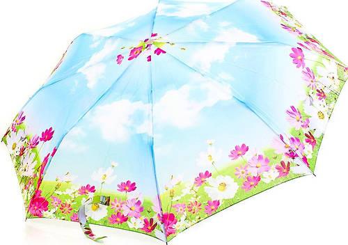 Красочный  женский полуавтоматический зонт ZEST (ЗЕСТ) Z53626B-7 Антиветер!