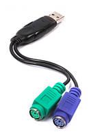 Переходник Viewcon VE 247 USB-PS/2 x2 (блистер), фото 1