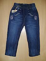 Брюки зимние джинсовые для девочки на флисе.