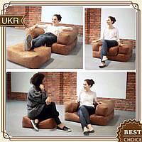 """Мягкое кресло """"Классик"""" с пуфиком - раскладная кровать"""