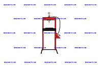 Пресс гидравлический Miol - 20 т x 988 мм