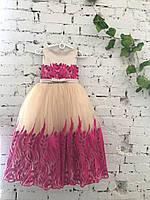 Детское нарядное платье на выпуск в детском саду марсала