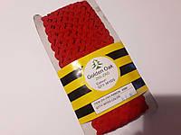 Тесьма зигзаг вьюнок ( зиг-заг )  5-6 мм, Тасьма зигзаг в'юнок, в'юнчик ( 30 метрів) червоний
