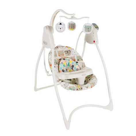 Кресло-качалка LOVIN'HUG Graco  (с подключением к электросети),зеленый с рисунком, фото 2
