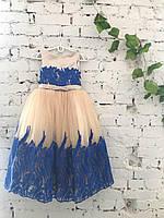 Детское нарядное платье на выпуск в детском саду синее