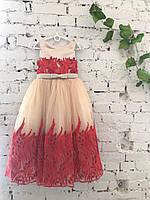 Детское нарядное платье на выпуск в детском саду красное