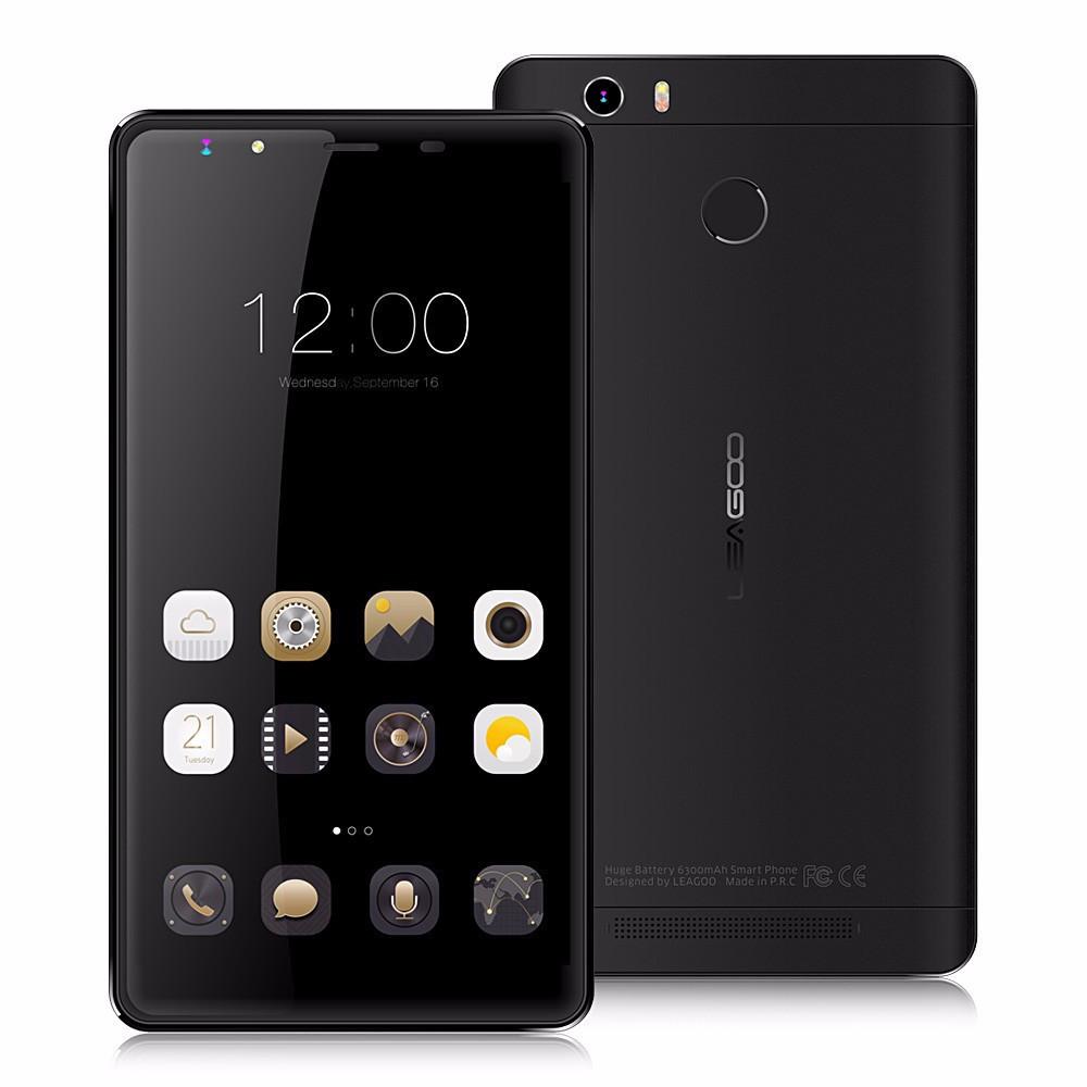"Смартфон Leagoo Shark 1 Black, 13/5Мп, 6300 мАч, 6"" IPS, 3/16Gb, 8 ядер, 2sim, 4G, GPS, Android 5.1"