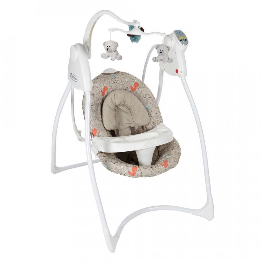 Кресло-качалка LOVIN'HUG Graco (с подключением к электросети), бежевый с рисунком