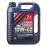 Полусинтетическое моторное масло Liqui Moly Optimal SAE 10W-40 5 л.