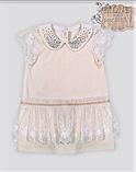Нарядное платье для маленькой девочки с воротником из страз ТМ МОНЕ р-р 68,74,80,86,92, фото 2